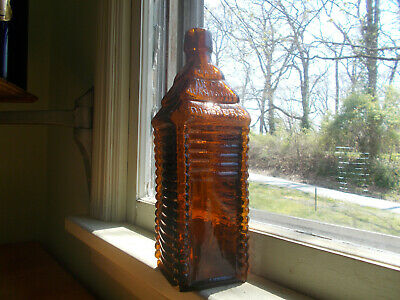 6 Log Drakes 1860 Plantation Bitters Cabin Figural Bottle Applied Lip Shiny Mint
