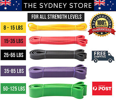 Aus Stock Heavy Duty Resistance Bands Fitness Gym Fitness Yoga Pull Up Training