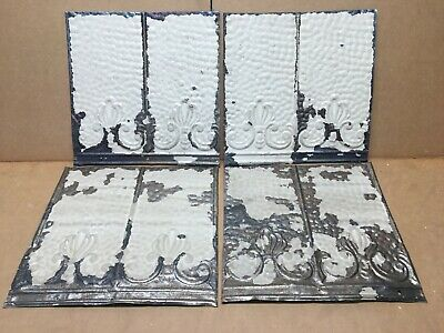 """8 pc 12"""" x 6"""" Antique Ceiling Tin Vintage Reclaimed Salvage Art Craft"""