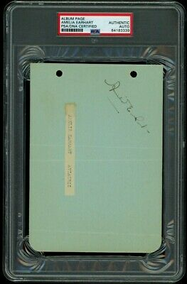 Amelia Earhart Signed Autograph Psa/Dna & Jsa Authentic!