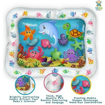 Inflatable Tummy Time Toys- Premium Water Mat Activity Center for Baby Infant