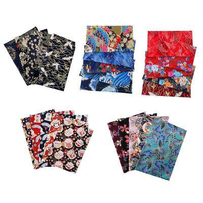 5Pcs DIY Mixed Pattern Cotton Fabric Sewing Quilting Patchwork Crafts 50*50cm