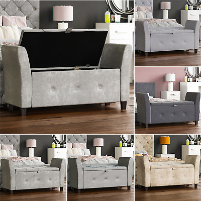 Storage Ottoman Seat Stool Bench Chest Toy Box Pouffee Footstool Bedroom Trunk