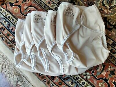 6 Large Cotton Bottoms Wraps for Reusable Cloth Nappies - USED.see description.