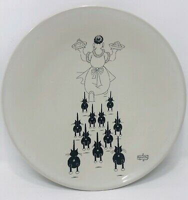 """DUBOUT 2002 Black and White Cat Editions Clouet """"Dinner Time"""" Plate 11"""""""