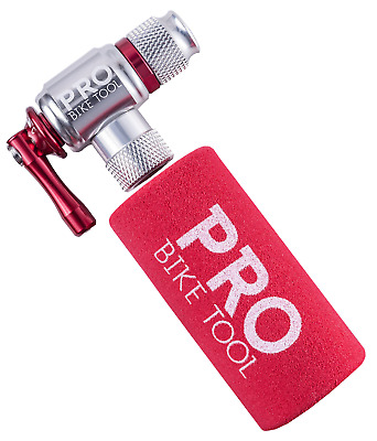 Pro Bike Tool CO2 Inflator with Cartridge Storage Canister Quick Easy and Saf