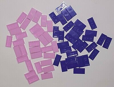 50 x LEGO PINK /& PURPLE FLAT TILES BRICKS 1x2 3069 FRIENDS 25 pink /& 25 purple