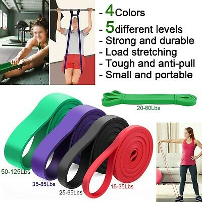 Resistance Workout Stretch Bands Loop Elastic Exercise Fitness Yoga Gym Pull Up
