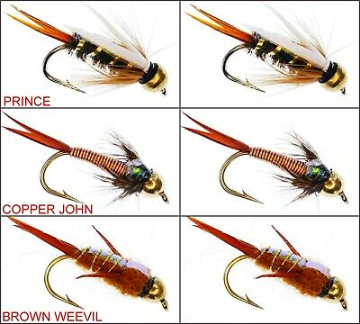Rainbow /& Sea Trout Fly Fishing 3 6 or 12x Bloody Butcher Wet Flies for Brown