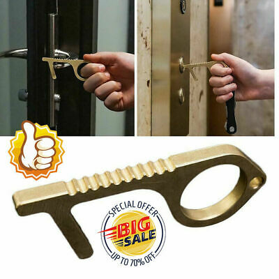 Contactless Safety Door Opener Safety Protection NO Touch Brass Keys Opener Kit@
