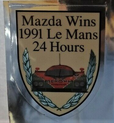 Aufkleber  24h Hours Le Mans Winner 1991 Mazda 787 B Wappen Racing Sticker