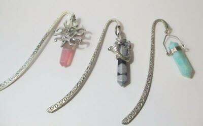 Choice Of Silver Bookmarks With Gemstone Points, Mermaid,  More