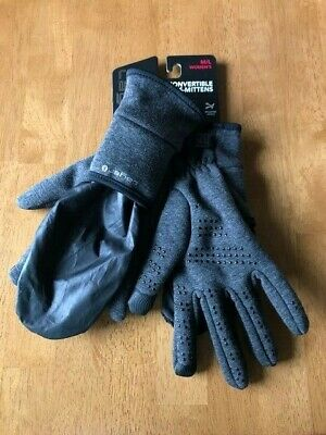 LAYER 8 Women's Convertible Gloves/Mittens Dark Gray Size M/L NWT FAST SHIPPING
