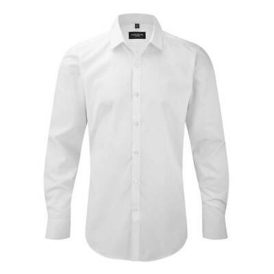 Russell Collection Mens Long Sleeve Ultimate Stretch Shirt
