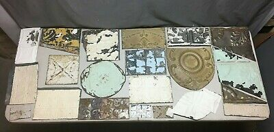 15' Sq.ft.Antique TIN metal CEILING RePurpose Crafts Art Projects Vtg 392-20B