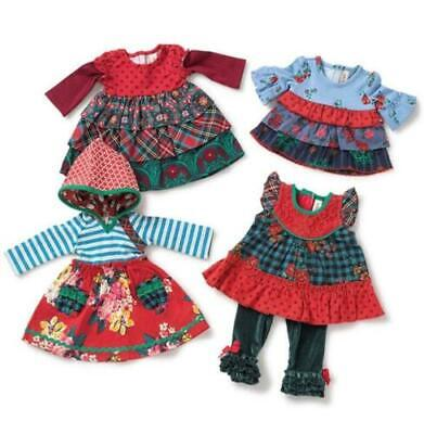 Matilda Jane Doll Clothes Matches Feeling Festive Tunic Tinsel Leggings Fits 18""