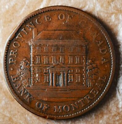 1842 Bank of Montreal One Penny Token