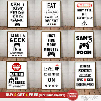 Fine Art Quality Gaming Poster Prints. Xbox Playstation. Funny Boys Bedroom Game