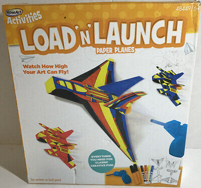 Rose Art Load-n-Launch Paper Planes Craft Kit