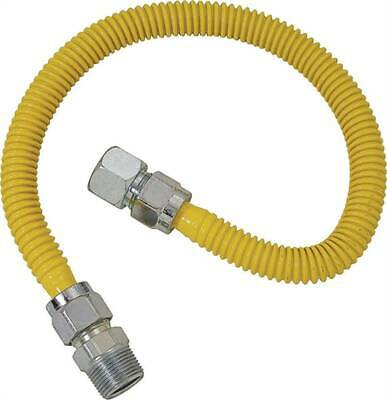 BrassCraft ProCoat CSSC21-72 Straight Gas Connector 3/4 in Inlet 3/4 in Outlet