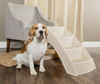 Unique Design Steps Best for Small to Medium Pets with Strong Material Supports