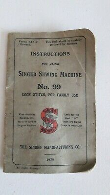 1928 Singer Sewing Machine instruction book
