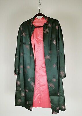Antique Vintage Japanese Silk Kimono Hand Embroided Silver hand stitched Jacket