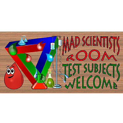 Child Room Wood Sign -Mad Scientists Room GS 1838 Childs Room Decor-GiggleSticks