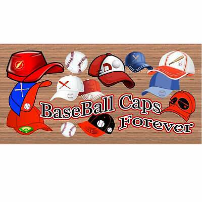 Signs - Baseball Caps Forever GS 2018- Wood Sign - Child Sign- GiggleSticks