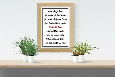 Harry Potter Couple -Personalised Room Wall Art Gift Present Wedding Love Poster