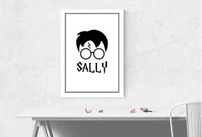 Harry Potter Head - Personalised Name Muggle Room Wall Art Gift Present Poster