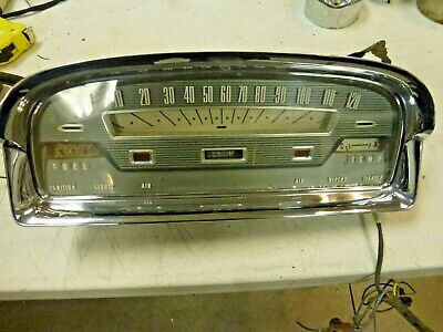 1959 Ford Galaxy Fairlane Wagon Dash Cluster !