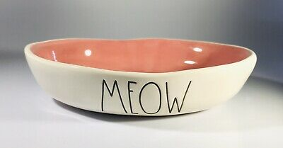 Rae Dunn Artisan Collection - MEOW Cat Food Dish