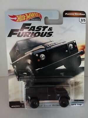 LAND ROVER DEFENDER 110 HARD TOP ☆black;real riders☆2019 Hot Wheels FAST/&FURIOUS