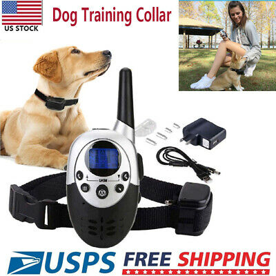 1000 Yard 1800 FT Pet Dog Training Collar Dog Shock with Remote Waterproof US