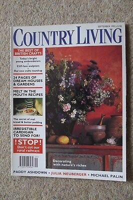 Country Living Sep 93 - Pigeon Racing, Micheal Foreman, Archaeological Dowser.