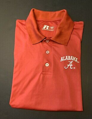 University of Alabama Crimson Tide Men's Polo Shirt by Russell Size M.