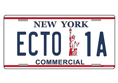 GHOSTBUSTERS License Number Plate, 'ECTO 1A', metal (2)