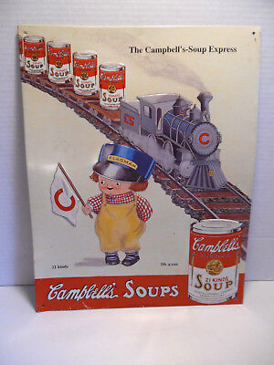 Campbells Soup Sign Railroad Kids Limited Edition