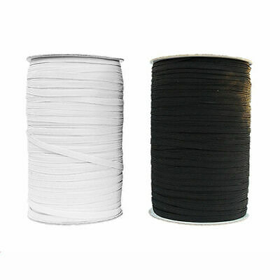 """6mm 10mm 1/4"""" Flat Elastic - Black Or White Sewing Face Masks"""