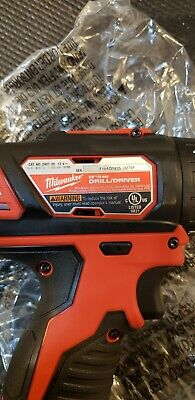 Genuine Milwaukee 2407-20 m12  Drill DriverWith (2) 1.5 Amp Batteries