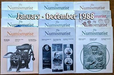 The Numismatist Coin Magazine 1988 Full Year 12 Issues