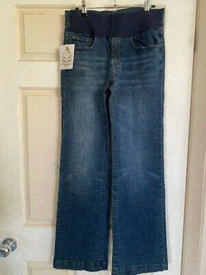 Mums The Word - Maternity Denim Bootcut Jeans  (10) Nwt- Stretchy Rrp $99