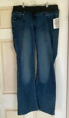 Mums The Word - Maternity Denim Bootcut Jeans  (18) Nwt- Stretchy And Comfy