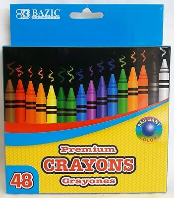 48 Premium Crayons - Bazic Products