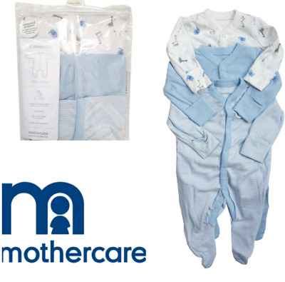 BABY BOYS Mothercare Blue Giraffe Elephant Cotton Pyjamas 2 pack set//1m-18-24m //