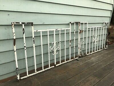 Antique Art Deco Driveway Iron House Gates /Metal / Garden Plant Trellis Vints