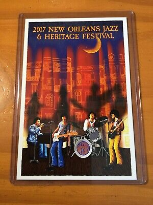 2017 New Orleans Jazz Fest Poster Postcard The Meters Francis Pavy