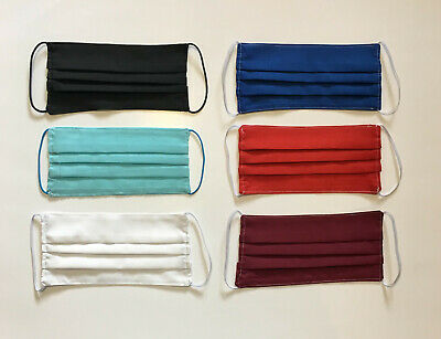 *** Handmade Face Mask Washable Reusable 2 Cloth Cotton Layers Black Blue Canada