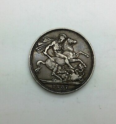 1887 Great Britain Crown Mid Grade affordable  Jubilee Head St George & Dragon